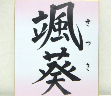 「颯葵」女の子の命名色紙【命名色紙】