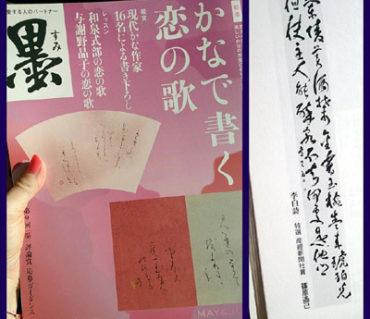 芸術新聞社発行の「墨」に受賞作品が掲載されました【メディア掲載】