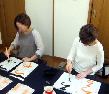 お友達同士で習い事/鎌倉市長谷の書道教室