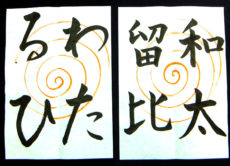 書く前にお手本をじっくり観察する/鎌倉市長谷の書道教室