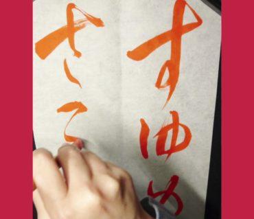 田辺古邨先生のとりな帖の臨書「すゆめさませ」動画/鎌倉市長谷の書道教室