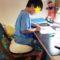 身長が低い子供におススメの座面調整グッズ/鎌倉市長谷の書道教室