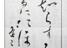 条幅(半切)国詩文部(仮名)の作品がトップページに写真掲載されました/鎌倉市長谷の書道教室