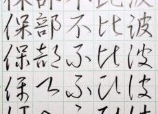 平仮名の成り立ち「は行」 書道FAQ/鎌倉市長谷の書道教室