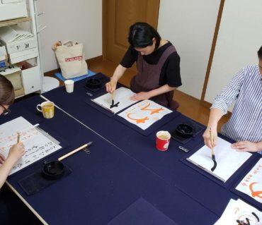 レッスンに来る時間が気分転換になる/鎌倉市長谷の書道教室