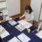 自宅書道教室でのレッスンの様子/鎌倉市長谷の書道教室